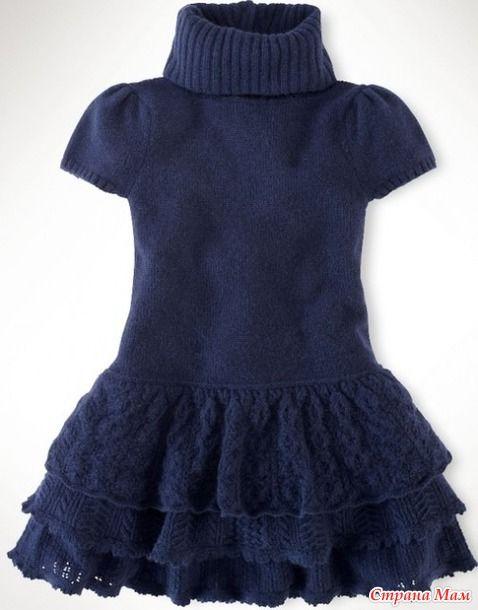 Ну вот, наконец-то, обещанное описание моей конкурсной работы. Вдохновлялась вот таким платьем от Ральфа Лорена. Ох, не давало оно мне спокойно спать. Хоть на куклу, но связала!