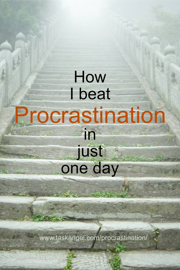 how to beat procrastination The biggest cause of procrastination is thinking about how much work needs to be done and the volume of time it is going to take take time out of the equation by simply giving yourself ten minutes to work on something.