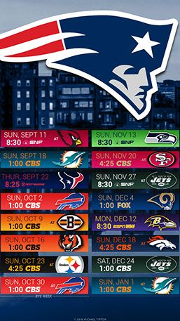 New England Patriots City Mobile Schedule Wallpaper