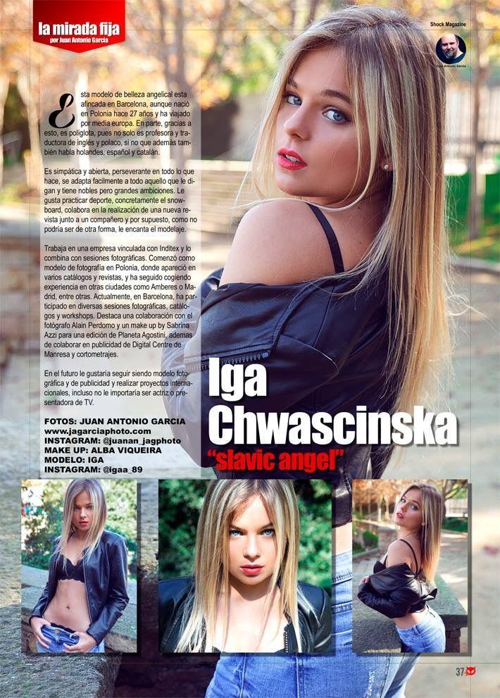 "Iga este mes en ""La mirada fija"" por Juan Antonio García. Solo en Shock Magazine http:// www.larevistashock.com"