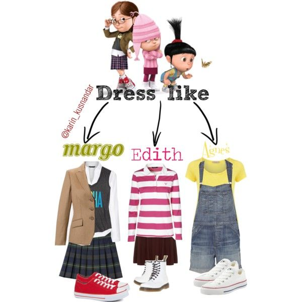 Dress like margo edith agnes (despicable me) I want my girls to dress like this so bad!!!
