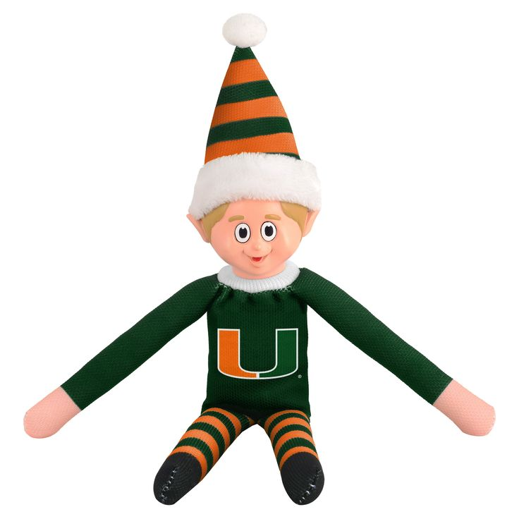 Forever Collectibles Miami Hurricanes Ncaa 14-inch Team Elf