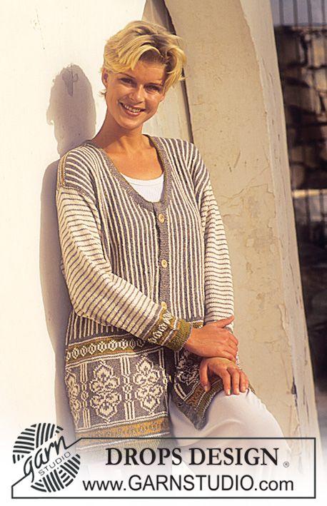 Lang jakke i Silke-Tweed Gratis opskrifter fra DROPS Design.
