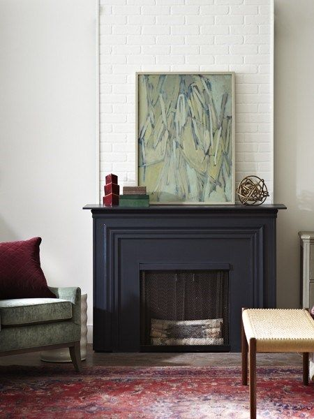 Painting Fireplace Matte Black For The Home Pinterest