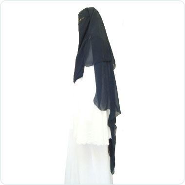 Black Triangle Niqab Veil Hijab Abaya Khimar Burqa | eBay