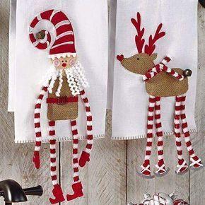 Linda Idea Para Toallas O Limpiones De Cocina Navidad Christmas