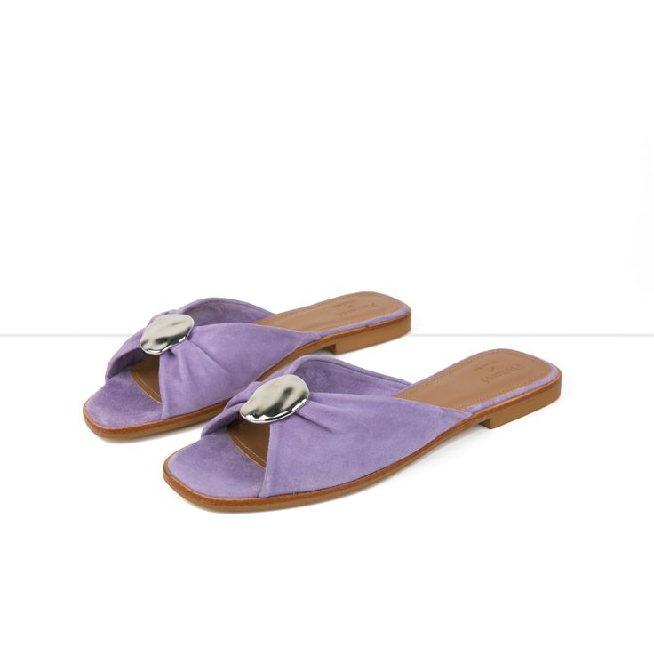 Flattered x Michaela Forni - Purple Suede Sandal