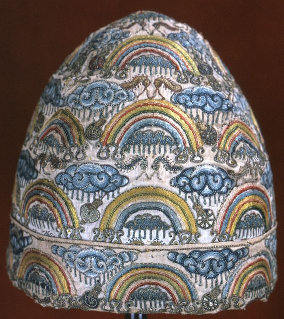 Man's Cap, late 16th century. This is an astonishing piece of work!