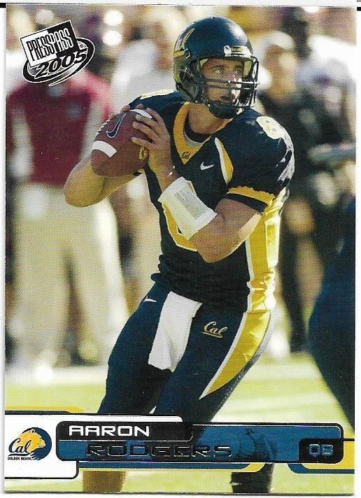 2005 PRESS PASS #9 AARON RODGERS RC PACKERS FREE SHIPPING #GreenBayPackers