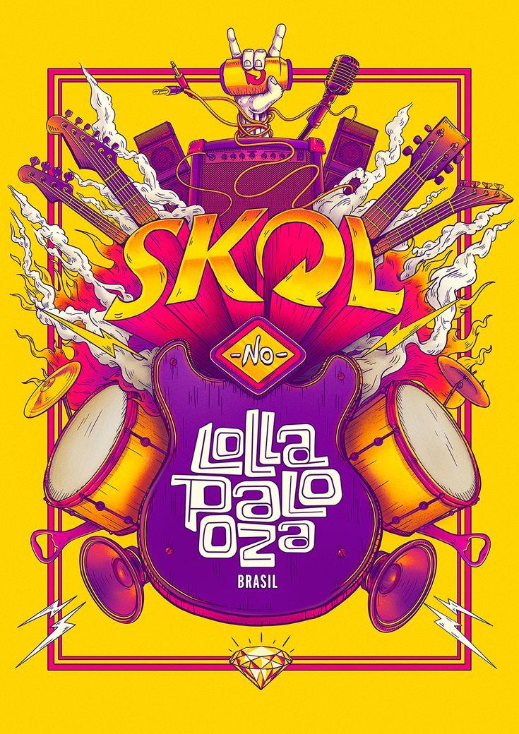 SKOL - Lollapaloza / Bigodon key visual on Behance