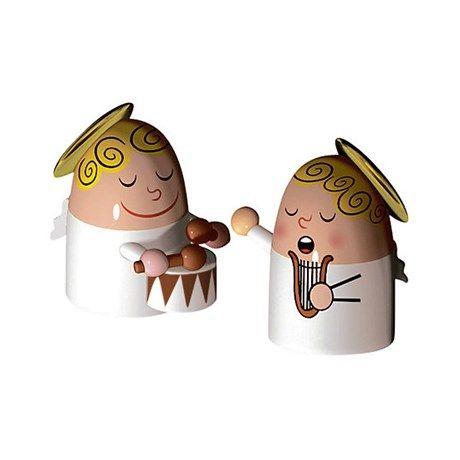 To små spillende engler i porselen, fra italienske ...