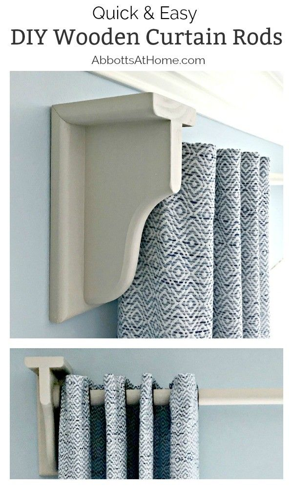 Diy Wooden Curtain Rod And Brackets Abbotts At Home Wooden