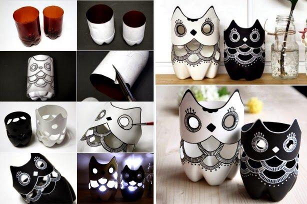 Ideas & Products: Bottle Owl Luminaries