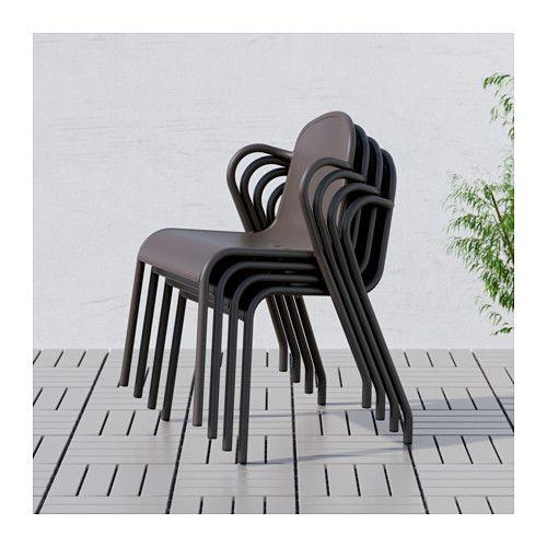 TUNHOLMEN Chaise, extérieur - brun foncé - IKEA