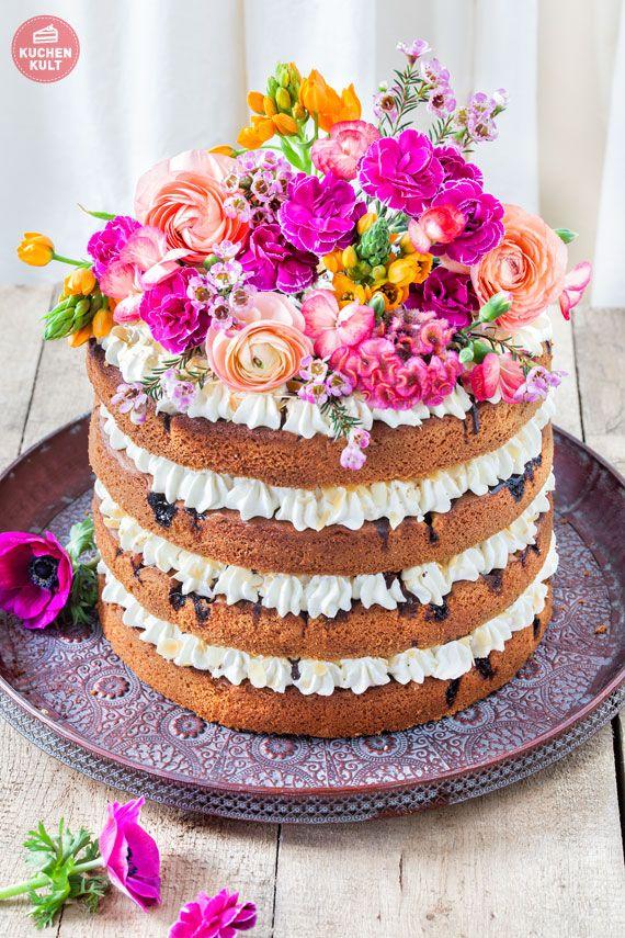 #Hochzeitstorte #Torte #Hochzeit #Tortenverzierung #Rezept #Blumen #DIY #Trend #Naked #Cake #NakedCake #wedding #cake #weddingcake #Flower #recipe
