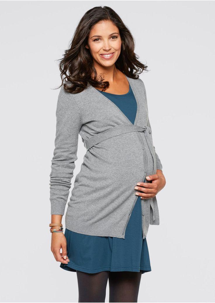 Sweter rozpinany ciążowy Z wiązanym • 57.99 zł • bonprix