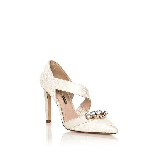 Perfect Roxanne - Zapatos de vestir de Satén para mujer Marfil marfil xmLI2