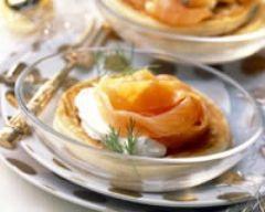 Blinis au sarrasin et saumon fumé