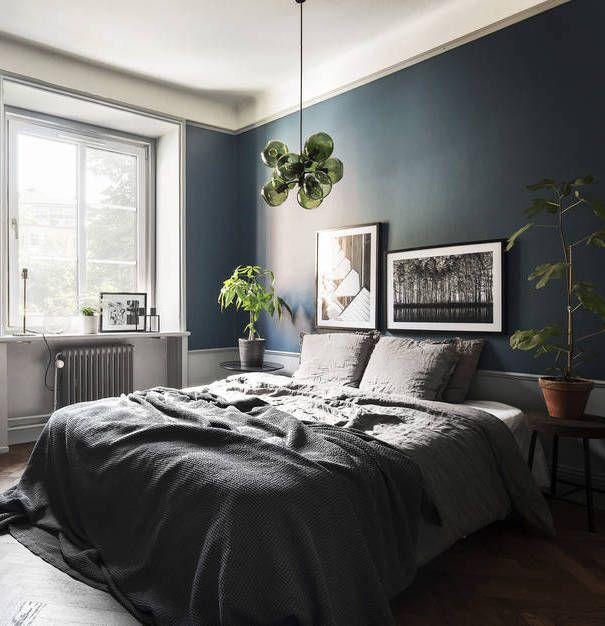 dark blue bedroom - photo #8