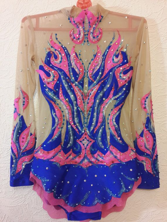 Beautiful designer rhythmic gymnastics leotard handmade. Shown as an example of work we do. Enquire about your custom leotard today. The leotard