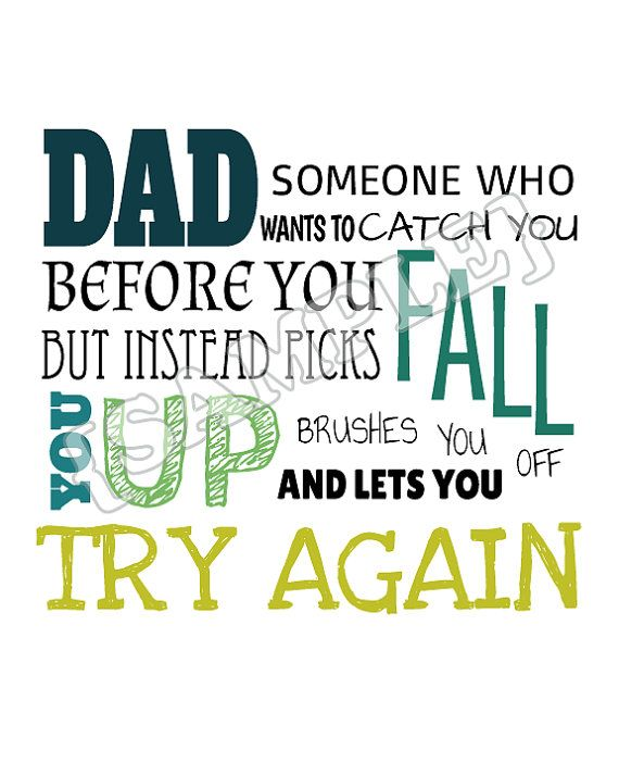 DIY Father's Day Present Printable Typography by honeypixels, $6.50