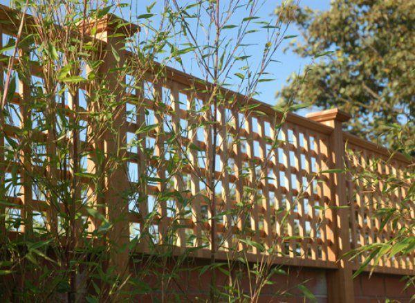 "3"" c/c Square Overlapped Trellis (fence topper)"