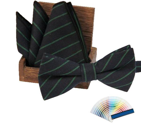 Striped Bow Ties & Pocket Squares