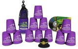 "This set comes with 12 Royal Purple cups in a nylon and mesh bag along with our cool Stacker Training DVD, loaded with instructions, World Championship highlights, Sport Stacking techniques and competitions to help you truly ""Stack Fast!""  Add a Cup Keeper for $3.00 which is specifically designed to fit on the bottom of your cups to keep them perfectly round."