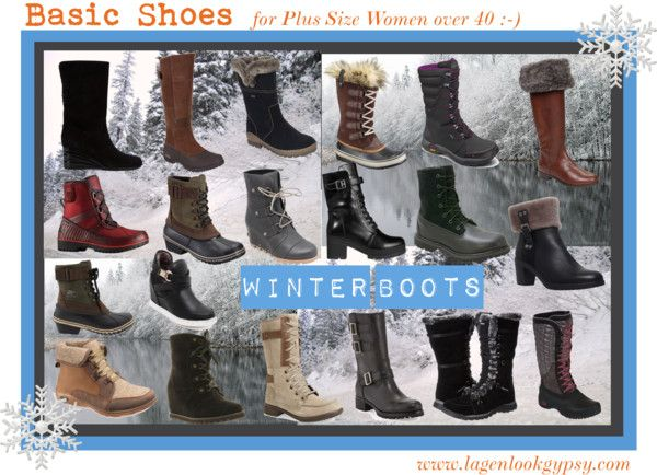 Basic Shoes for Plus Sizes over 40 - Winter Boots
