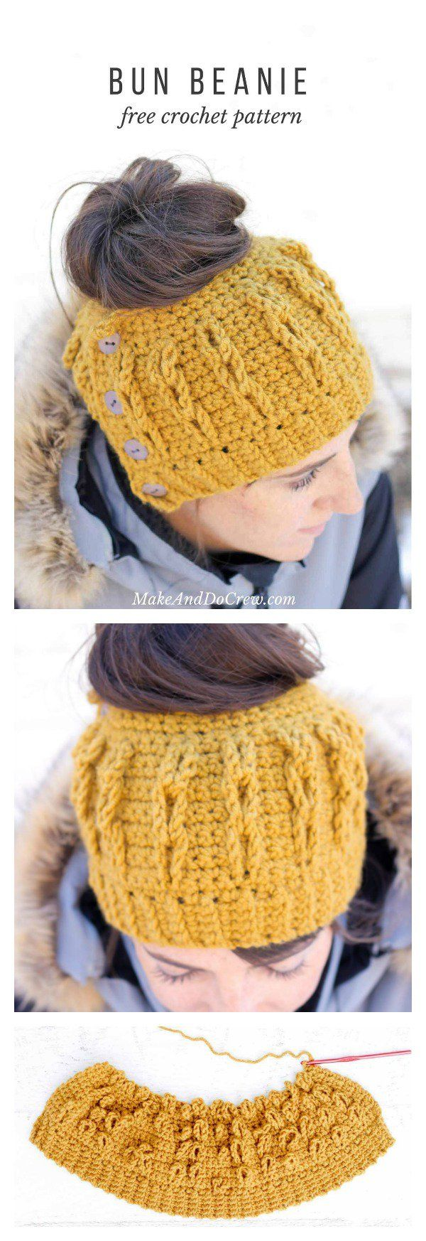 344 best crochet images on pinterest crochet projects knit crochet ponytail hat free patterns baditri Image collections