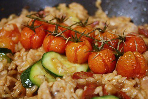 Jamie Oliver's chicken and chorizo risotto.