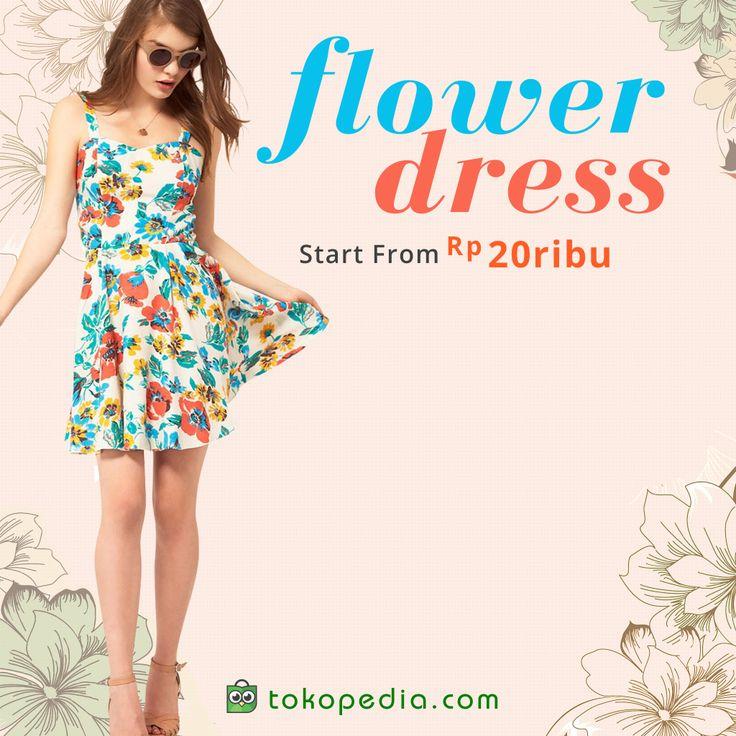 Hang out ke cafe dan mall, maupun ke pantai, paling asik pakai dress flower yang adem. Akses http://www.tokopedia.com/hot/dress-flower untuk melihat berbagai model dress flower mulai dari Rp 20.000,- ladies!
