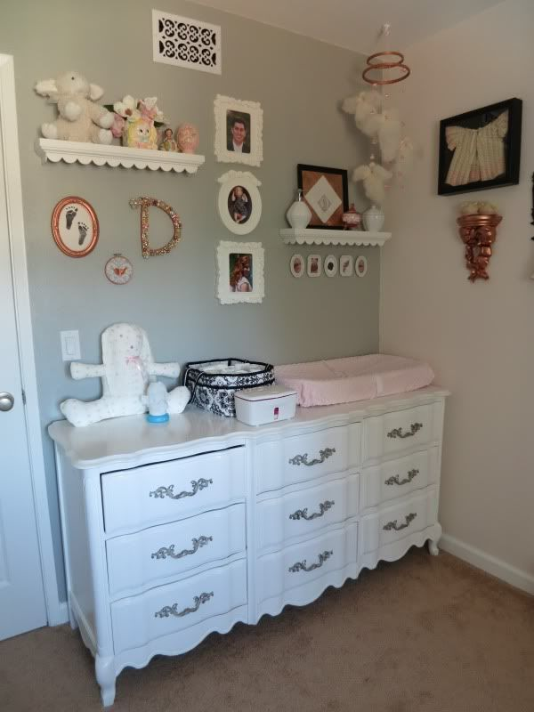 Daphneu0027s Vintage Inspired, Grey, Pink And Copper Nursery   Project Nursery