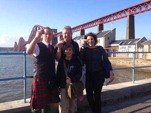 Cheers at Forth Road Bridge