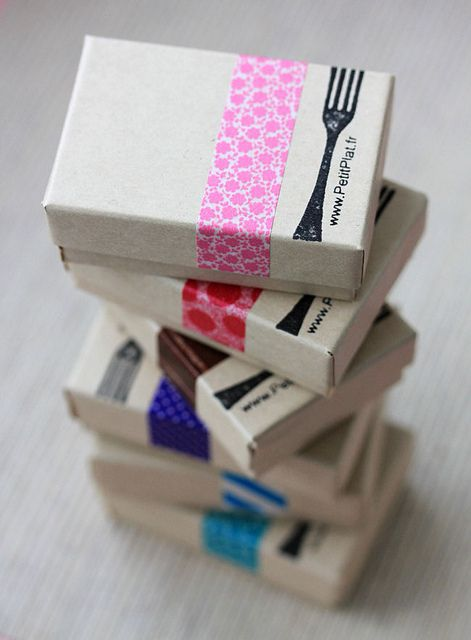 Washi tape boxes by Stephanie Kilgast, PetitPlat on Flickr
