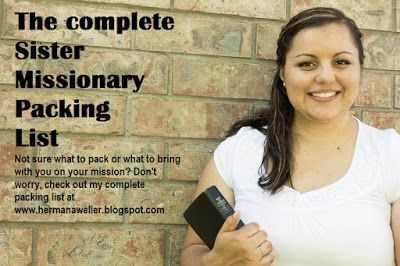Hermana Weller's LDS Mission: My Complete Sister Missionary Packing List