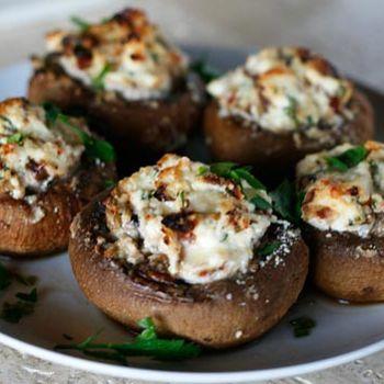 Ricotta Stuffed Mushrooms - better with portobello