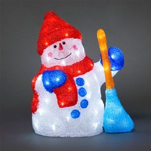 Konstsmide 6170-203 Acrylic LED Happy Christmas Snowman