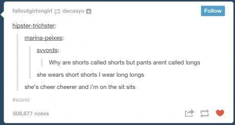I  wear long longs