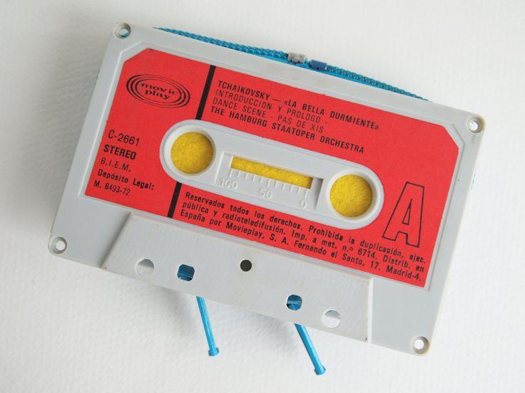 Zippered Cassette Tape Wallet - Tchaikovsky - La Bella Durmiente by thepickpocketstore on Etsy