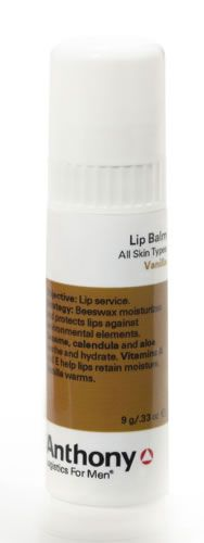 anthony logistics Lip Balm (Vanilla) Suitable for All Skin TypesHow it works:Lip service. A combination of beeswax, carnauba and candelilla (plant waxes) protect lips against environmental elements, avocado oil and rice bran oil moisturi http://www.comparestoreprices.co.uk/mens-health-and-beauty/anthony-logistics-lip-balm-vanilla-.asp
