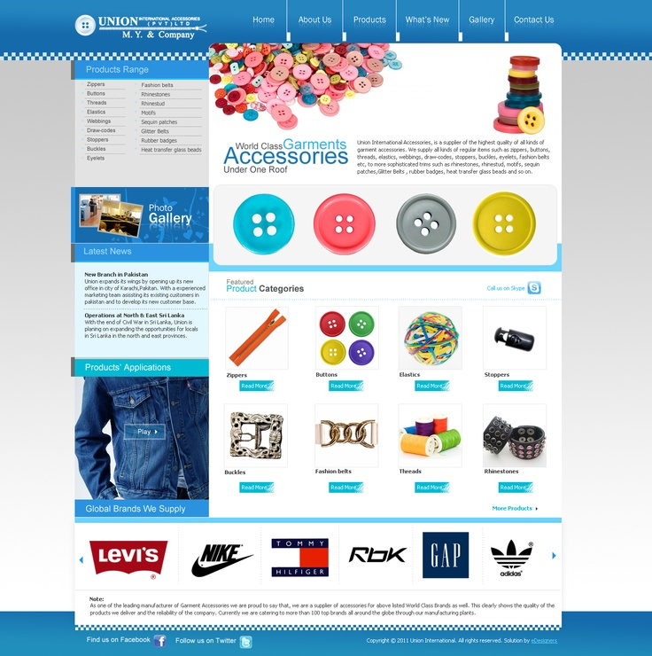 Union Acceesories, Product Portal done by eDesigners !
