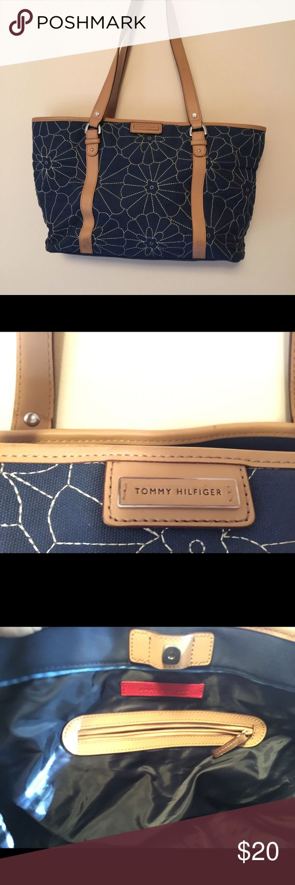 Tommy Hilfiger quilted tote bag purse Tommy Hilfiger quilted tote bag. Bag is like new! I bought this and never used it. This is a gorgeous bag you will be hairs tees to love! Tommy Hilfiger Bags Totes