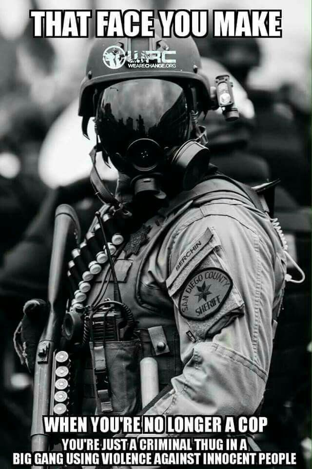 militarized police at dapl dressed for WAR, not protecting.