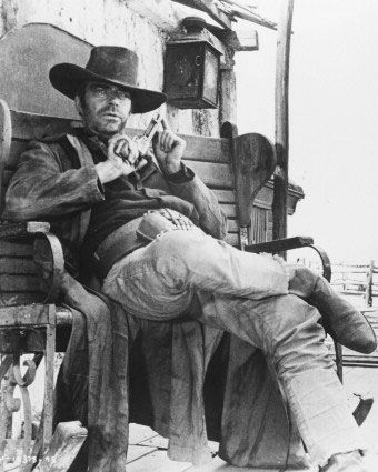 "Jack Elam in ""Once Upon a Time in the West"" This movie has one of the best opening sequences of any Western ever made. A must see!"