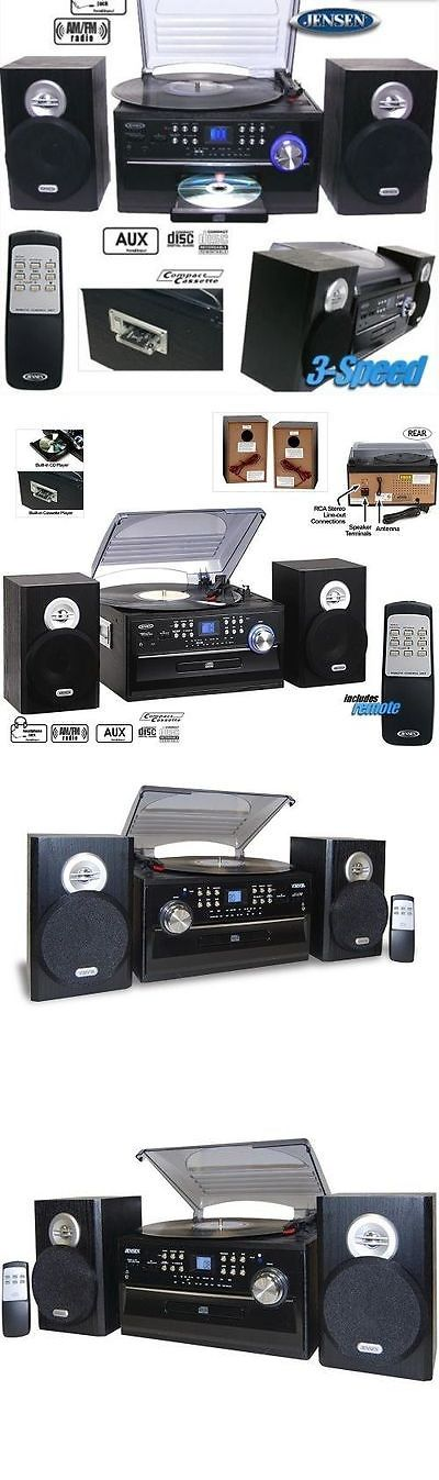 Compact and Shelf Stereos: Jensen Home Shelf Stereo Record Player System With Speakers Ipod Aux Vinyl Cd -> BUY IT NOW ONLY: $119.5 on eBay!