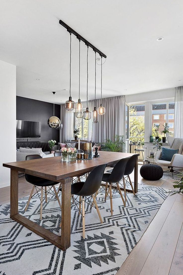 Super cool living and dining room. | Super cooles Wohnzimmer und Esszimmer.