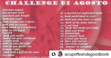 Ecco la challenge che seguiremo ad agosto!!