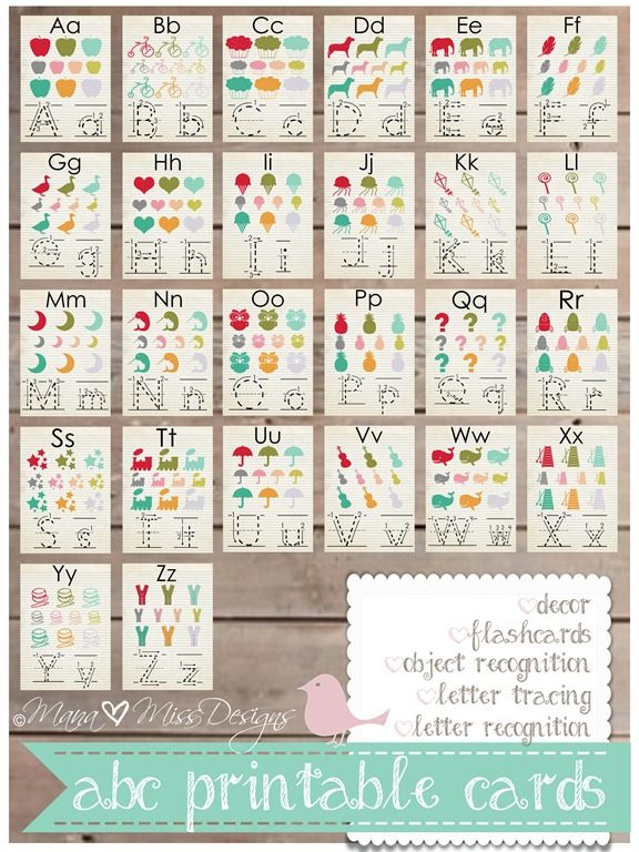 Free Alphabet Card printables