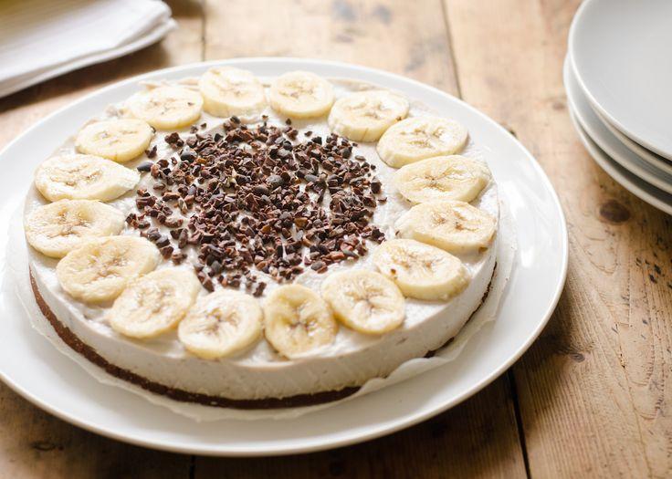 Super lekkere combi: een heerlijk romige bananenkwark met een krokante chocolade bodem. Grote favoriet hier!